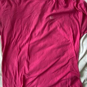 PINK OBEY EMBROIDERED LOGO T SHIRT